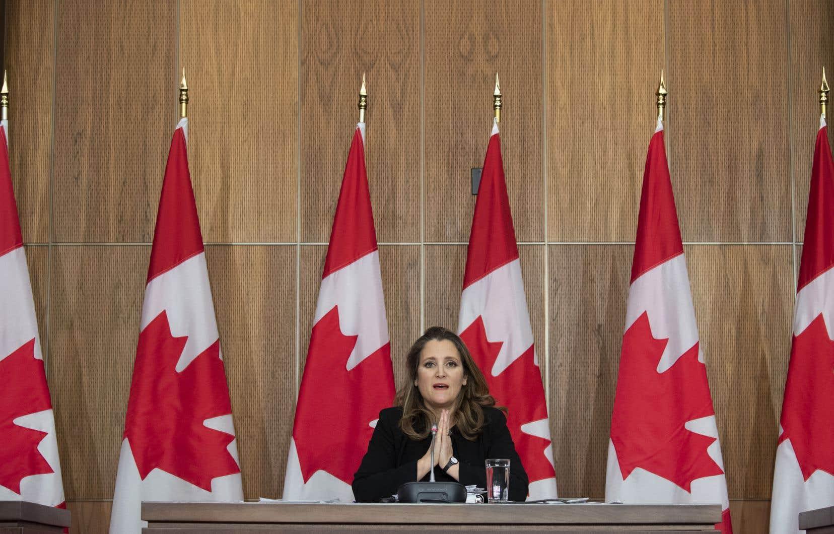 La vice-première ministre et ministre des Finances, Chrystia Freeland