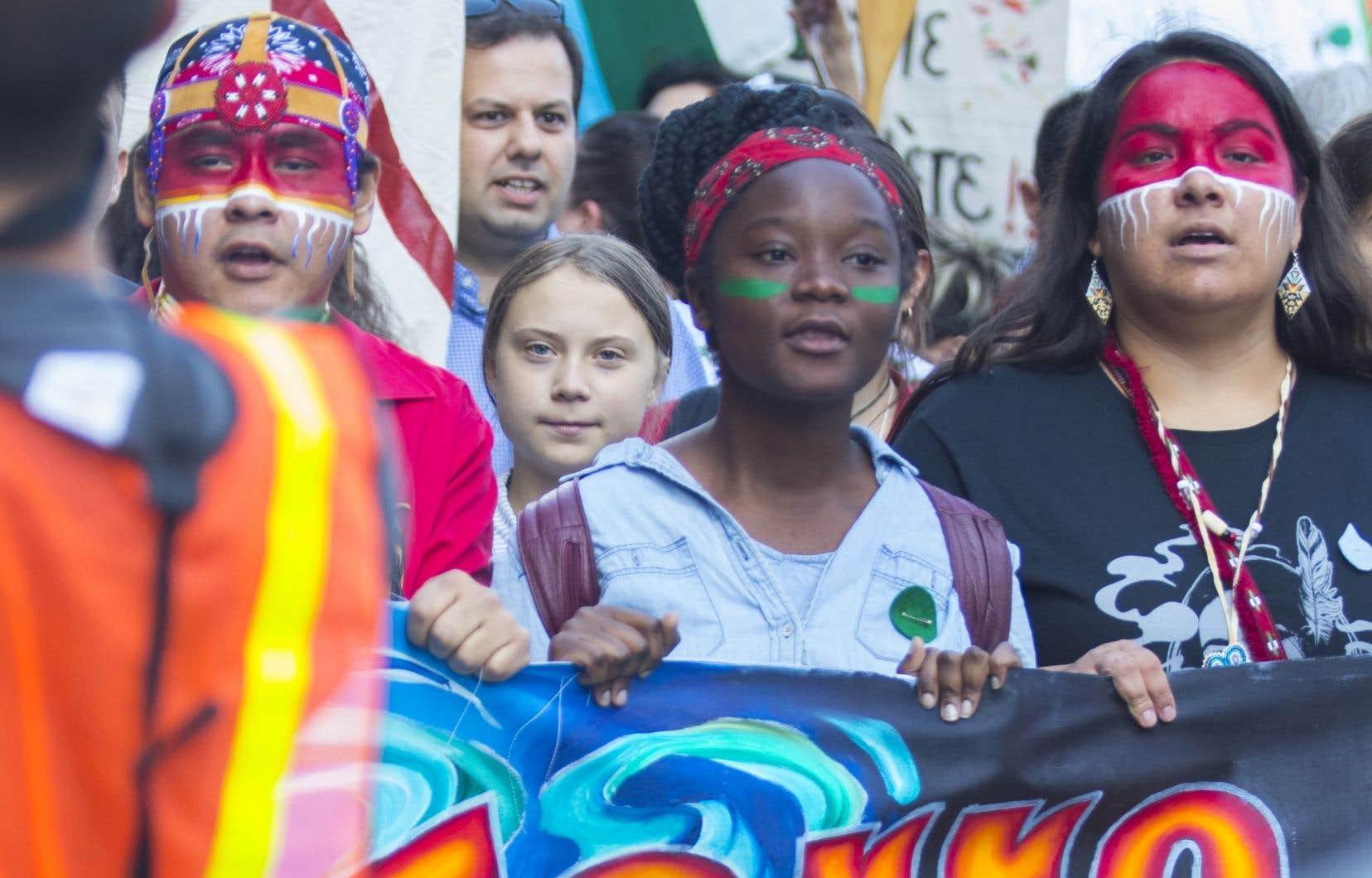 Le 27 septembre 2019, près d'un demi-million de personnes, majoritairement des jeunes, ont défilé dans les rues de Montréal aux côtés de la militante Greta Thunberg.