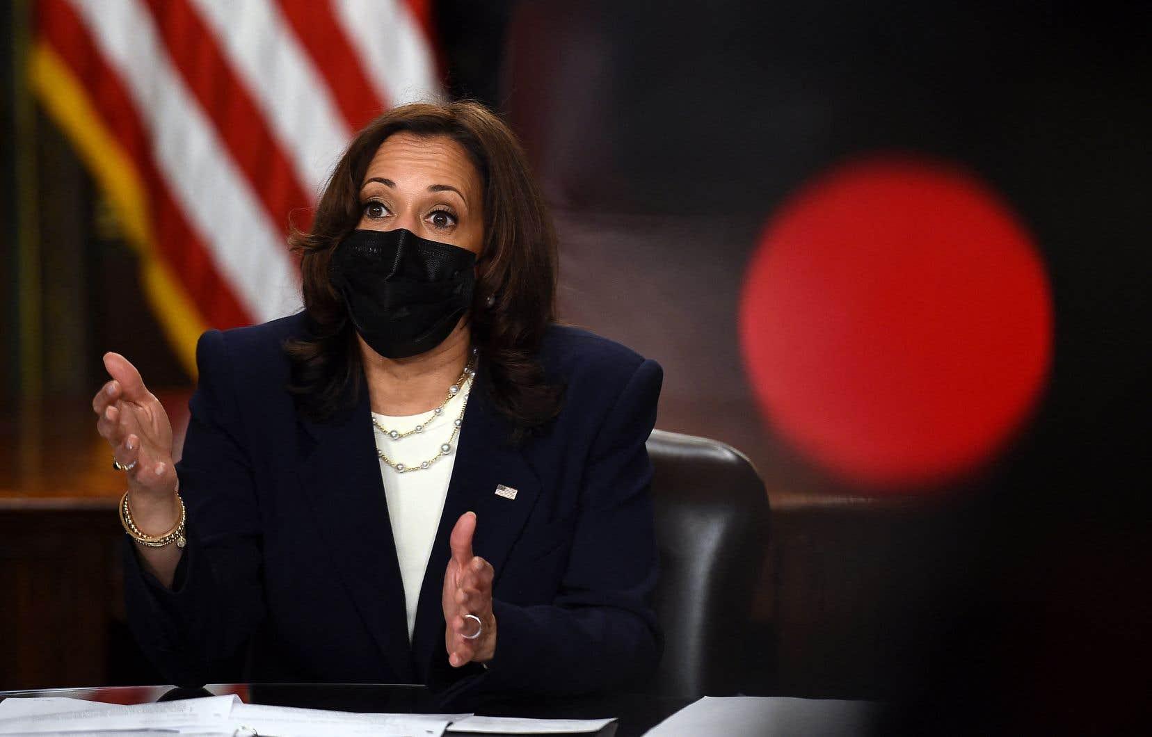 La vice-présidente des États-Unis, Kamala Harris