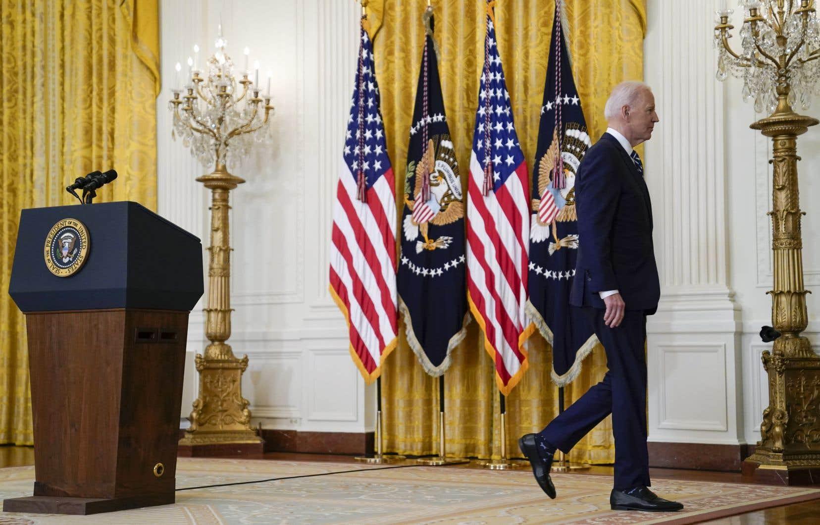 Joe Biden a semblé jeudi maîtriser ses dossiers, sans faire d'annonce majeure, mais en tentant de marteler ses priorités, alors que plusieurs crises ont contrarié ces derniers jours sa communication focalisée sur son plan d'aide économique.