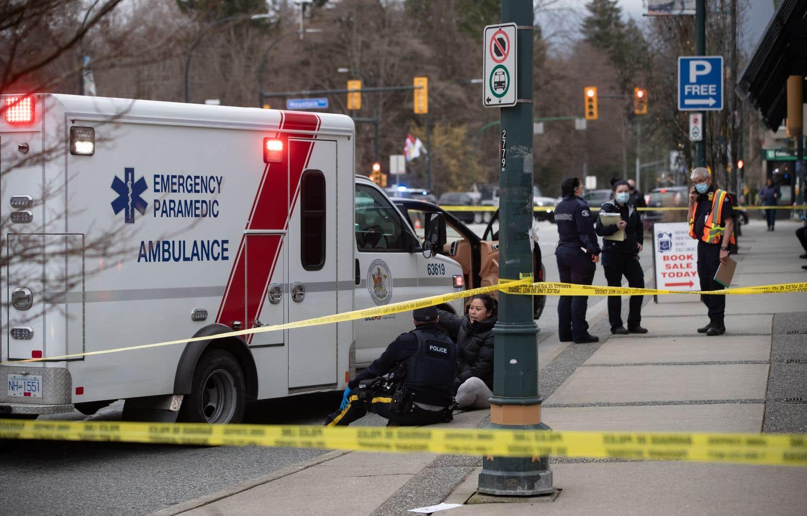 Selon les B.C. Emergency Health Services, six personnes ont été transportées vers un hôpital.