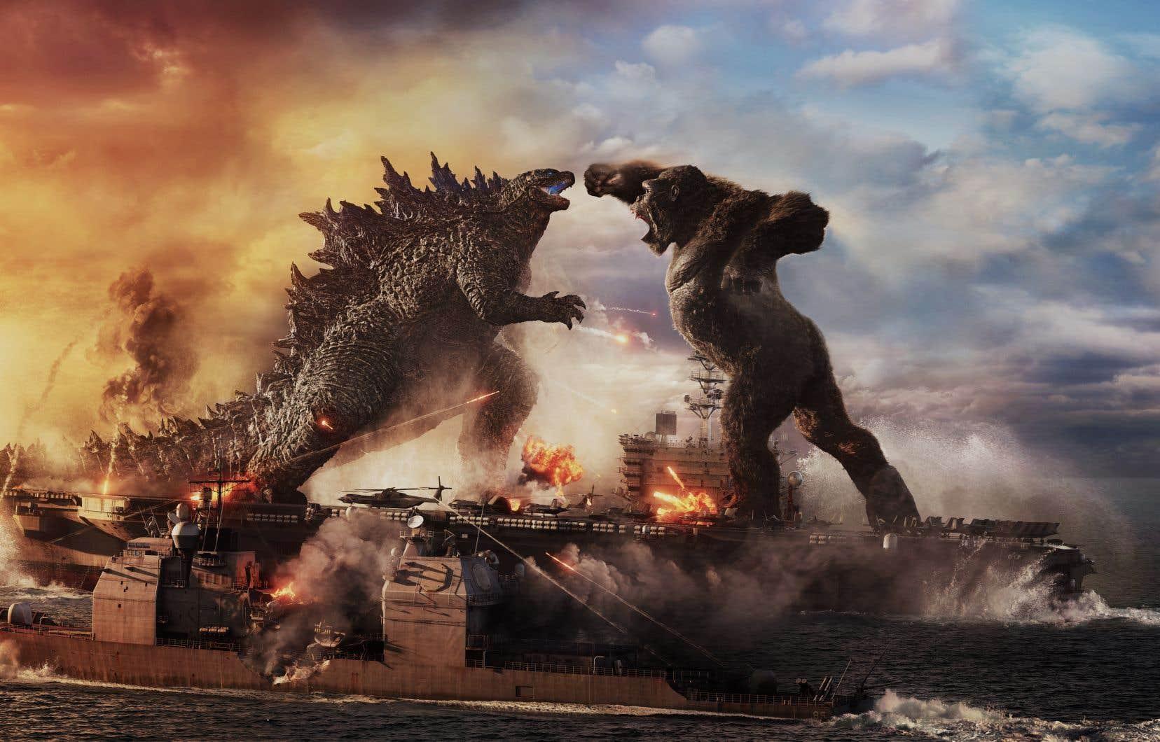 Un affrontement entre Godzilla et King Kong: c'est exactement ce qui survient dans «Godzilla vs Kong», titre explicite s'il en est.