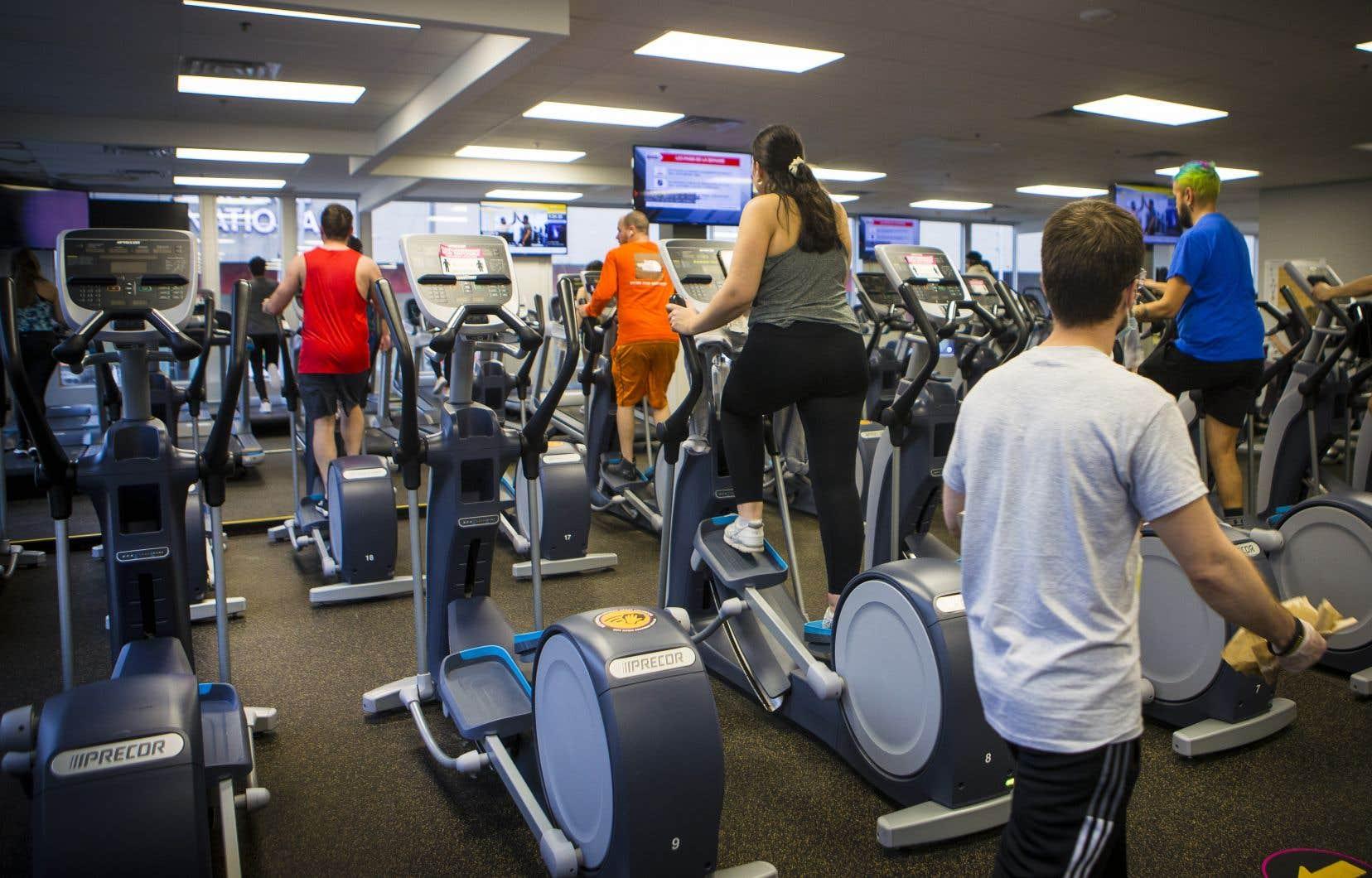 Depuis l'autorisation d'ouvrir les gyms en zone rouge, vendredi dernier, la clientèle est au rendez-vous.