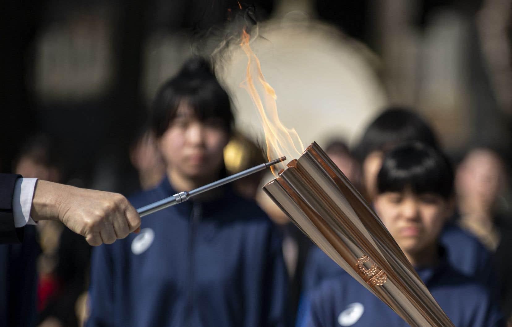 Le relais de la flamme olympique a été lancé le 25mars dans la préfecture de Fukushima, dans le nord-est du pays.