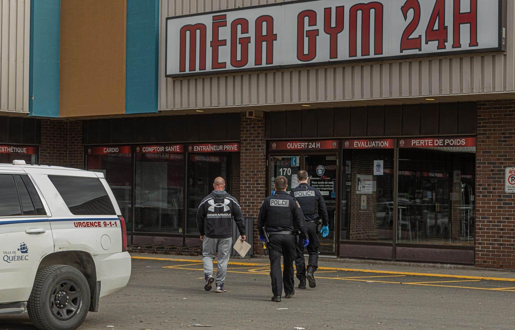 Le Méga-Fitness Gym de Québec a été fermé mercredi dernier par les autorités après avoir observé de graves manquements aux mesures sanitaires.
