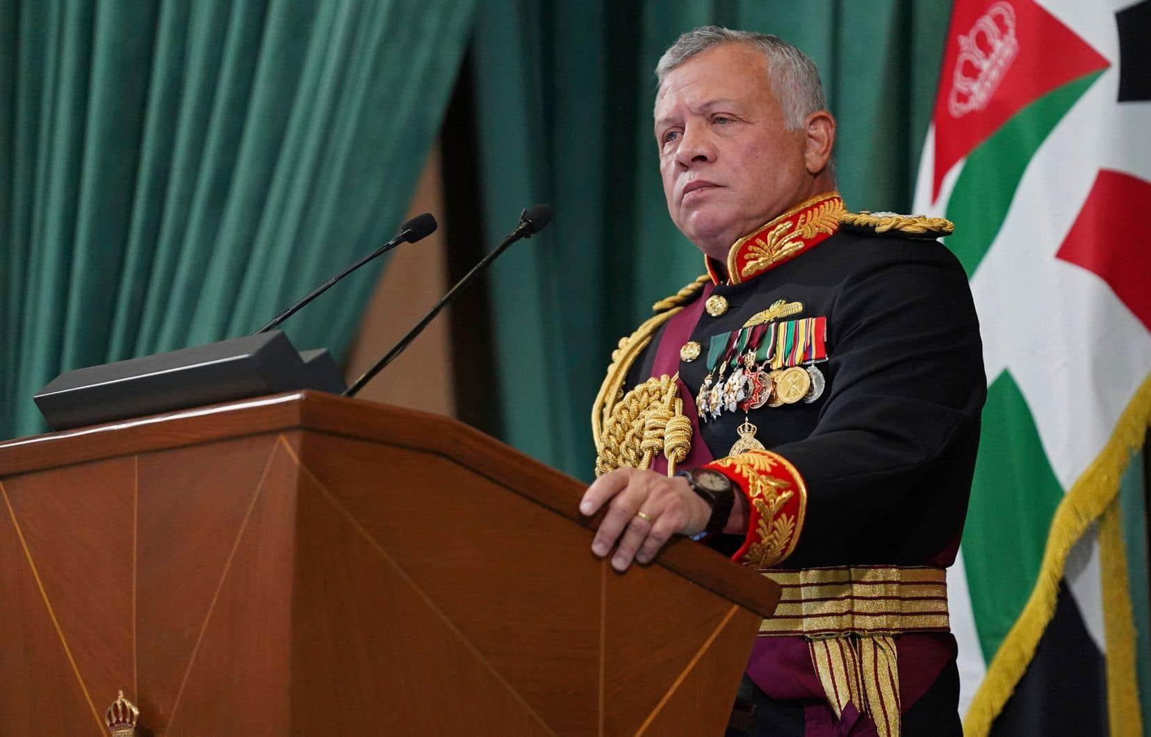 Le roi Abdallah II de Jordanie, lors d'une allocution le 10 décembre dernier