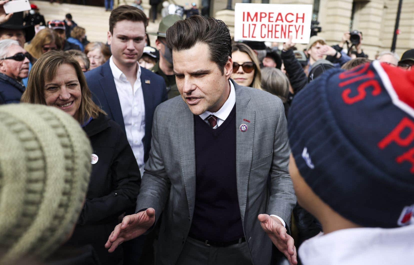 Le parlementaire Matt Gaetz avait vigoureusement défendu Donald Trump après l'assaut meurtrier du Capitole, mené le 6janvier par des partisans du milliardaire.