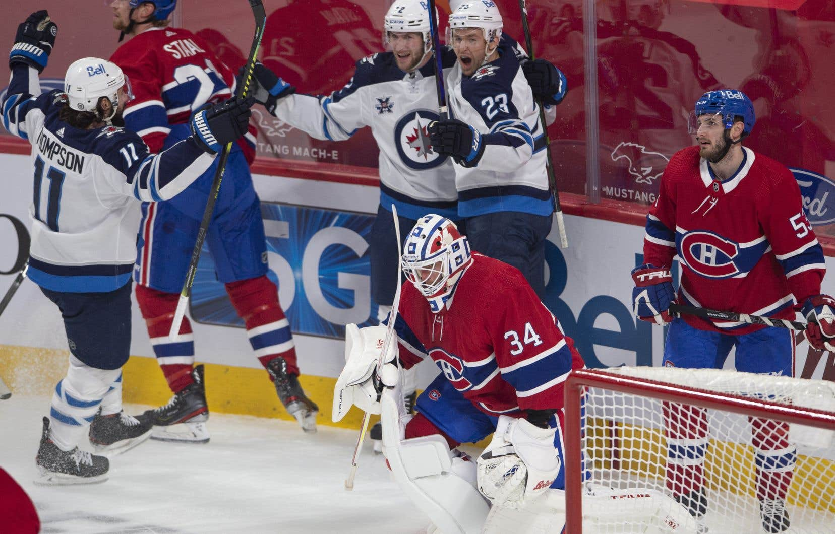 Les Jets de Winnipeg ont marqué trois fois en première période.