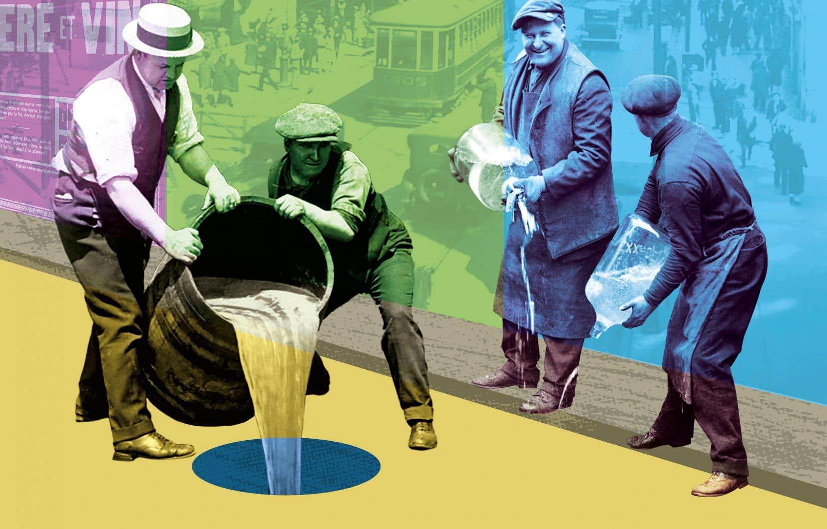 Avec l'adoption de la Loi sur les boissons alcooliques, en 1921, la Commission des liqueurs, l'ancêtre de la SAQ, se met en place avec de vastes pouvoirs. Malgré cela, les Québécois continuent à acheter de l'alcool de contrebande. Avec la prohibition, les Américains sont assoiffés. Des contrebandiers, les «bootleggers», vivent leur âge d'or.