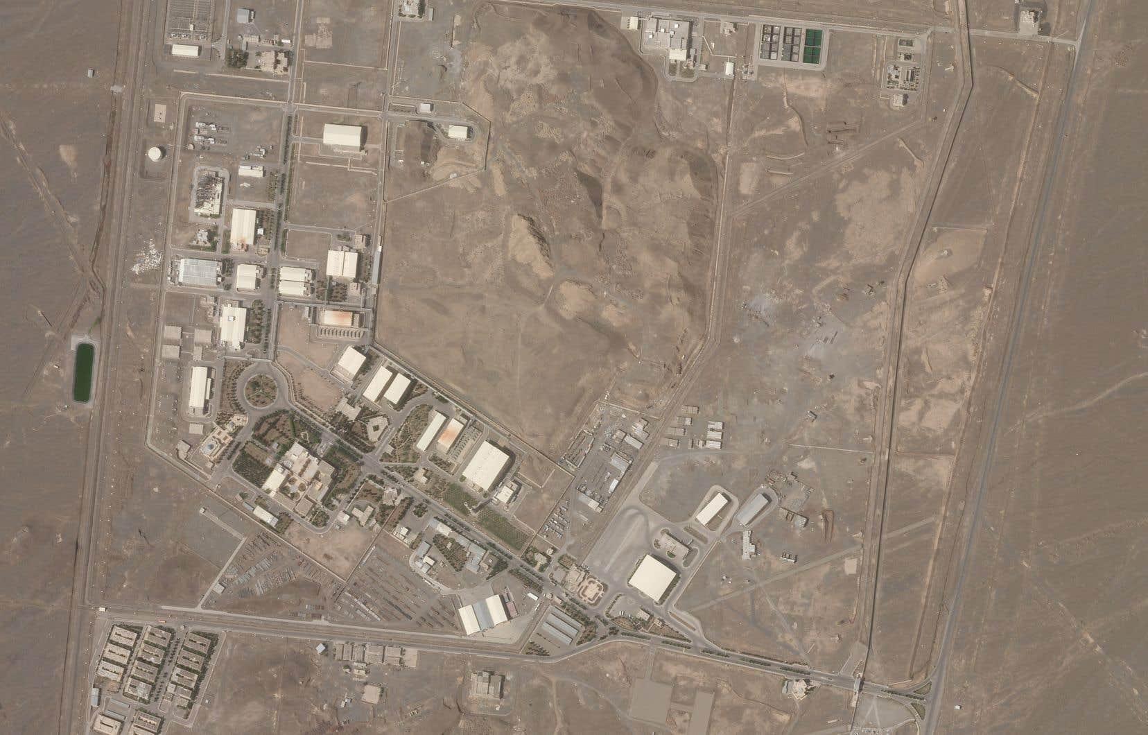 Les médias iraniens n'ont diffusé aucune photo ni vidéo du centre de Natanz après ce sabotage.