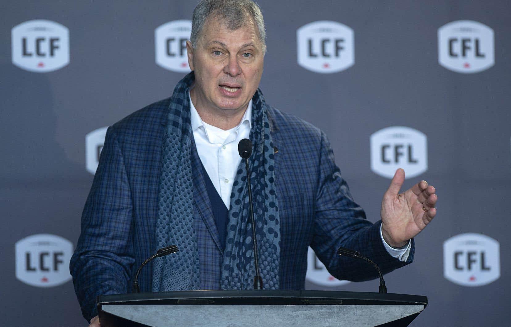 Le commissaire de la LCF, Randy Ambrosie