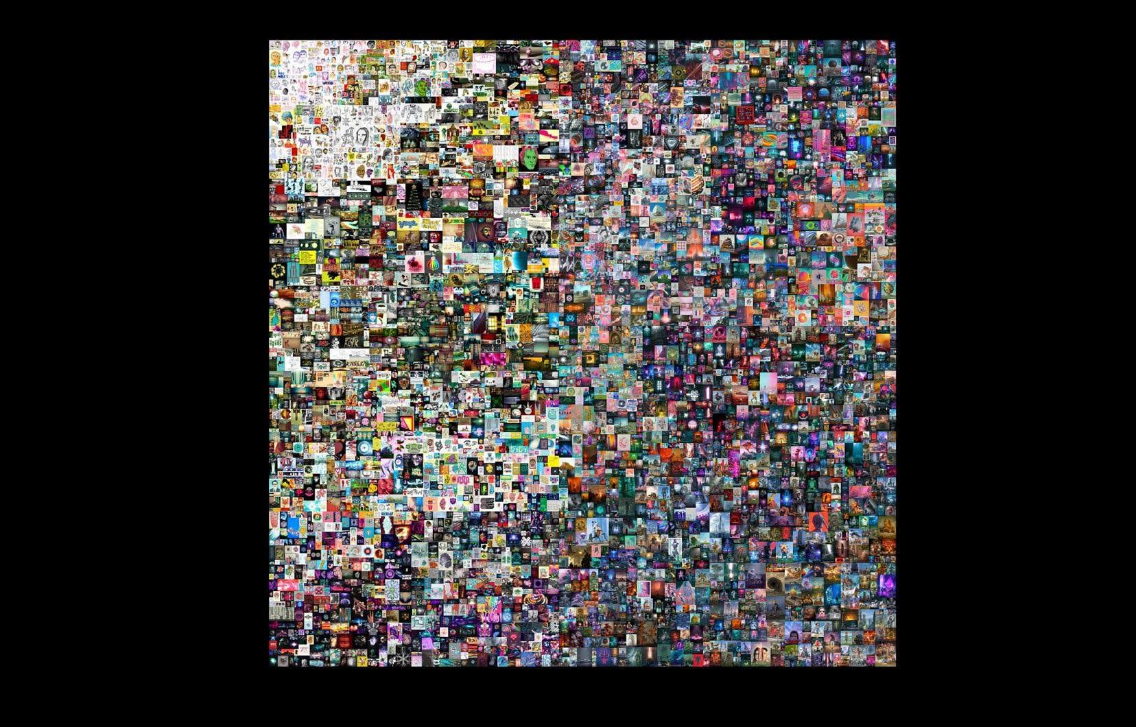 Le collage numérique de l'artiste américain Beeple, que Christie's a vendu pour 69,3millions de dollars.