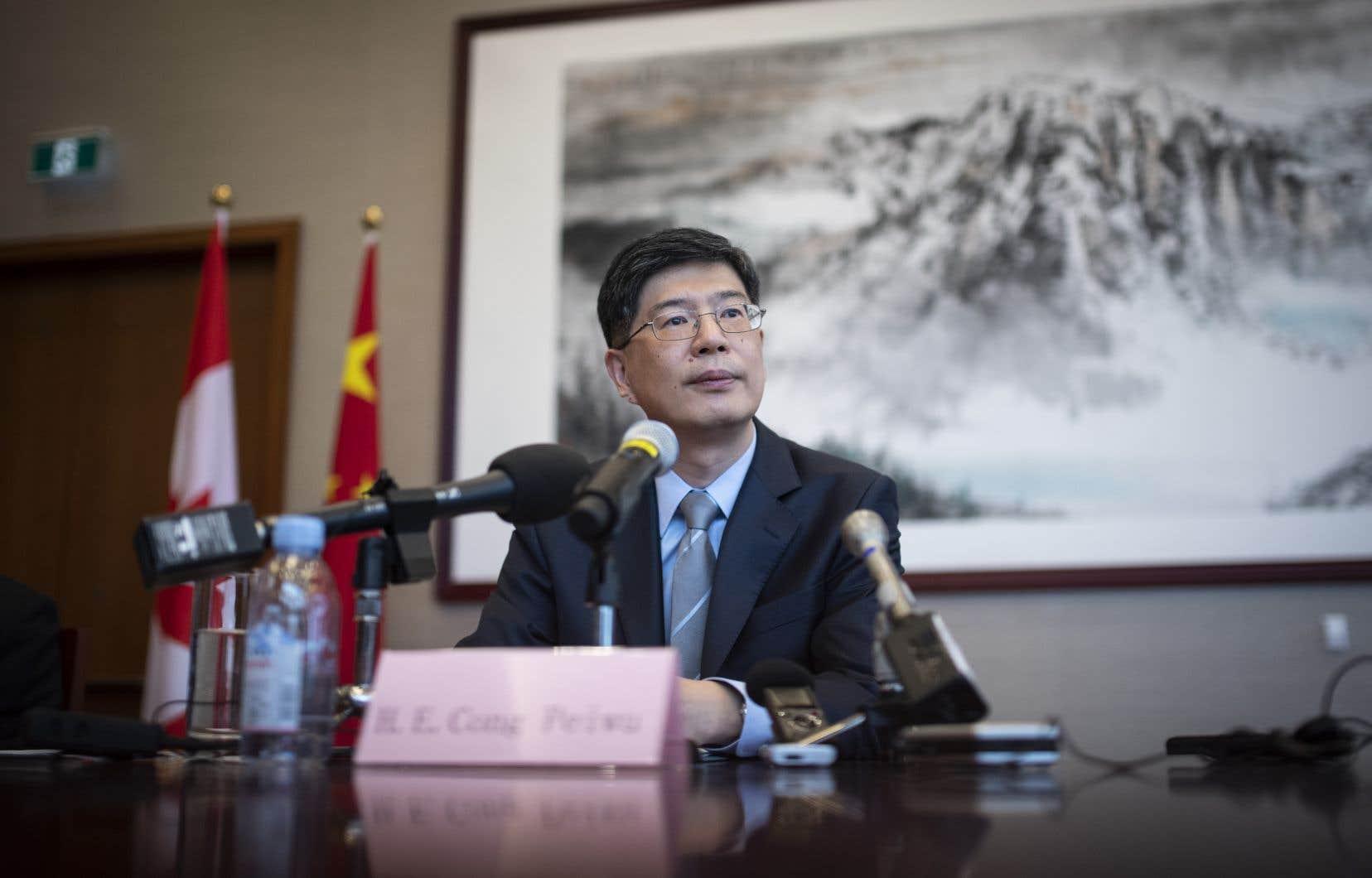 L'ambassadeur de Chine au Canada, Peiwu Cong, en 2019.