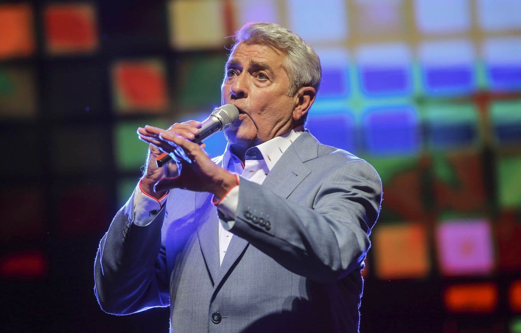 Michel Louvain au Festival d'été de Québec en juillet 2017