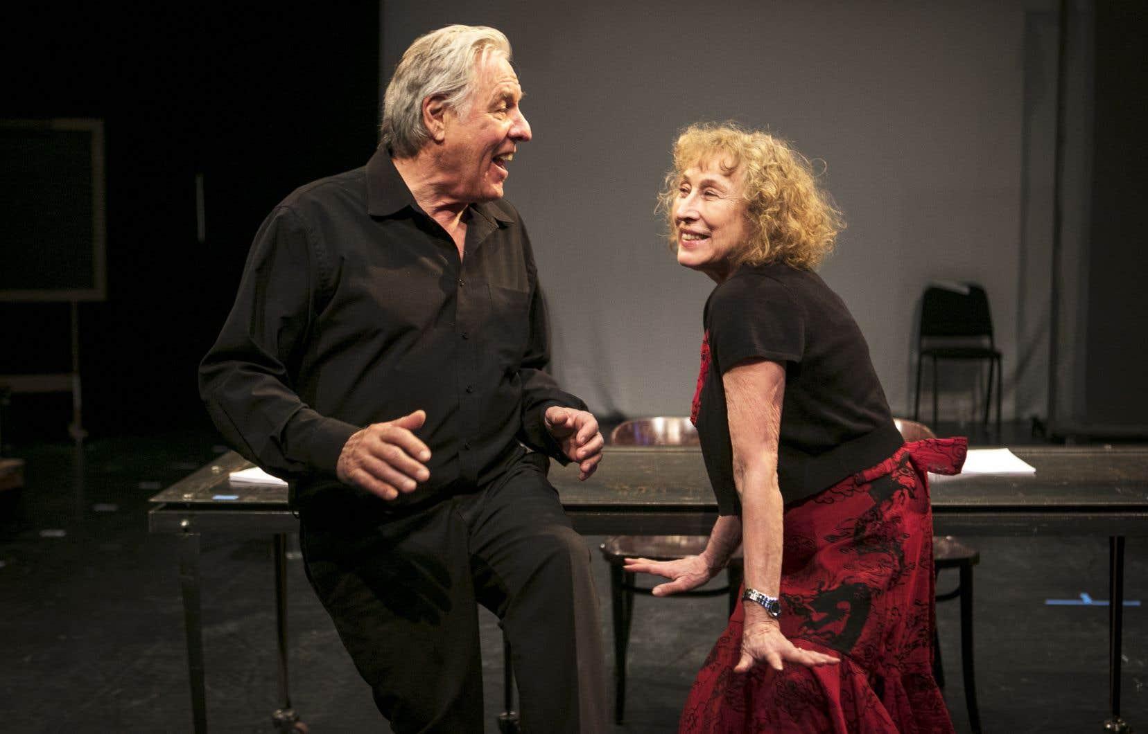 Pierre Curzi et Marie Tifo dans «La renarde et le mal peigné», dont la mise en lecture avait été créée au FIL en 2010.
