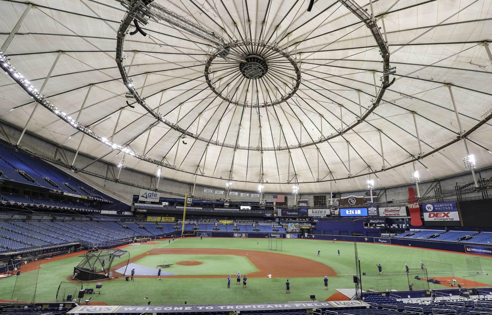 Le Tropicana Field, domicile des Rays