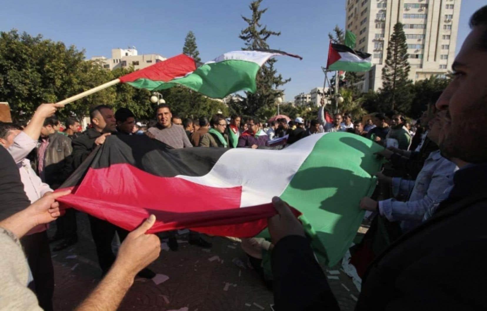 Le 14 mars dernier, des palestiniens de Gaza tenaient un rallye pour mettre fin aux divisions de leur peuple. <br />