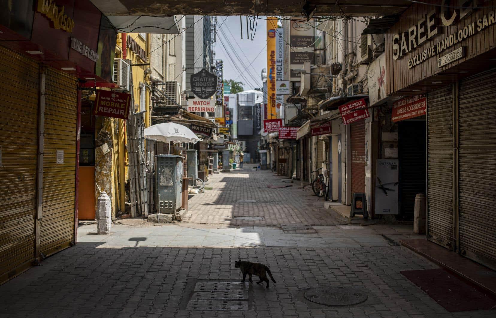 D'ordinaire, les rues de New Delhi sont animées et pleines de monde. Mais pas ce week-end ni les prochains. Un confinement a été mis en place dans la capitale les fins de semaine.