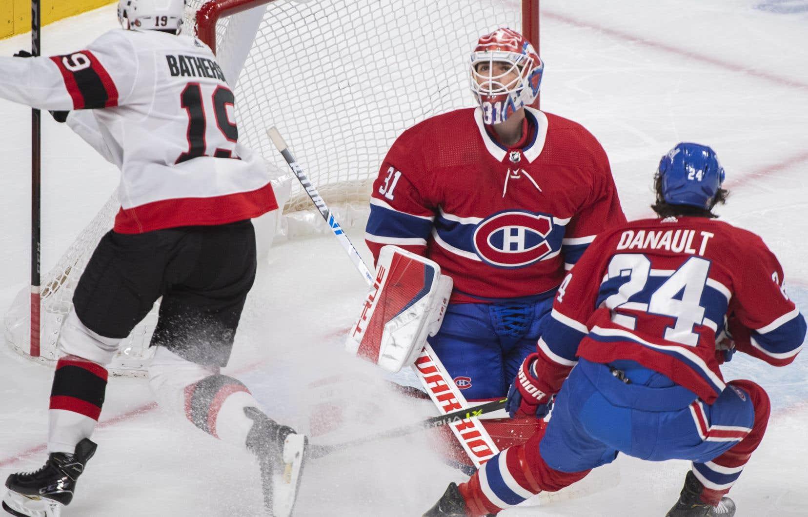 Le retour au jeu de Carey Price après une absence de six rencontres n'a rien fait pour relancer l'équipe, samedi, alors qu'elle a encaissé une gênante défaite de 4-0 face aux Sénateurs d'Ottawa.