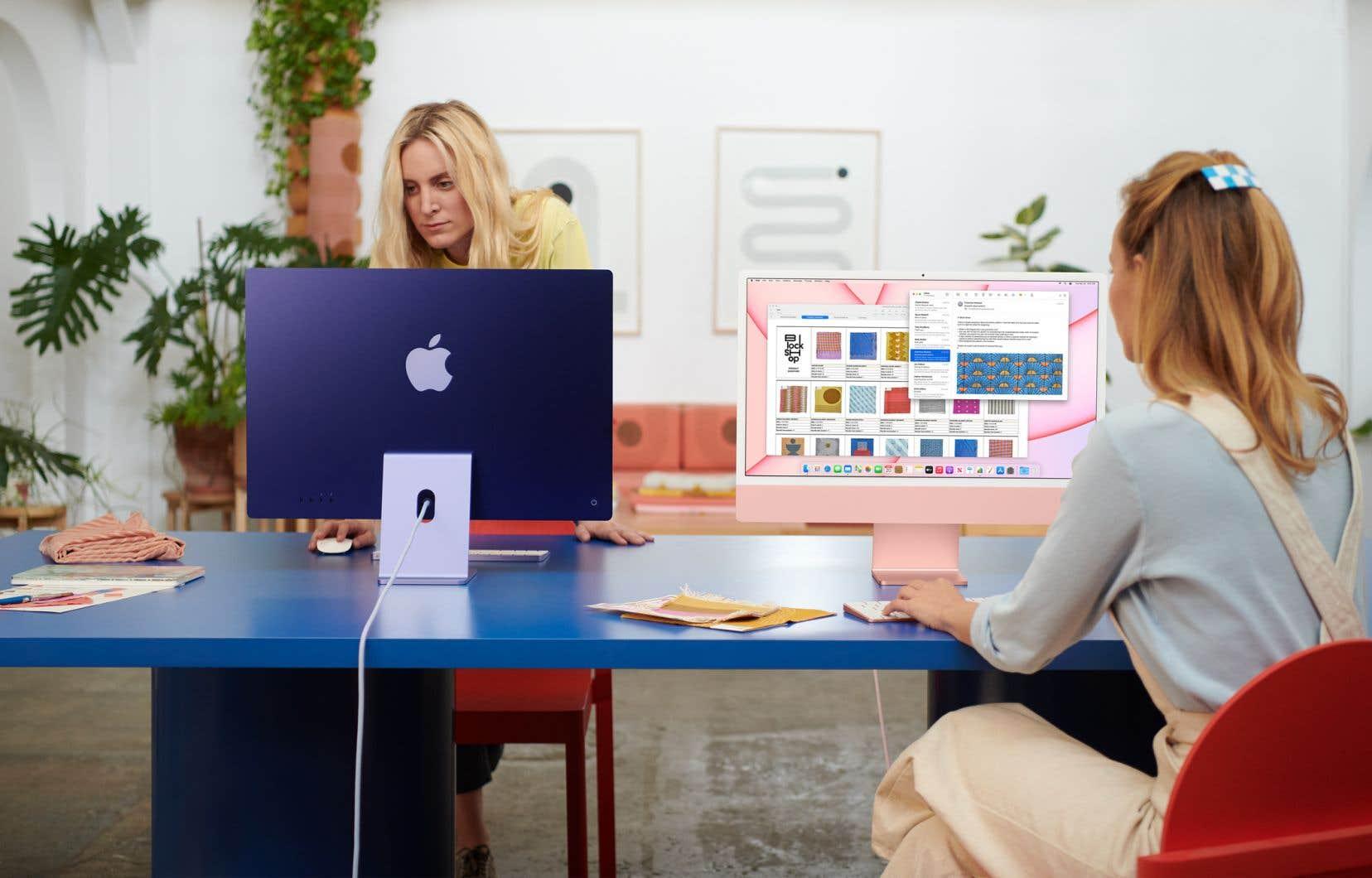 Deux des nouveaux iMac présentés mardi.