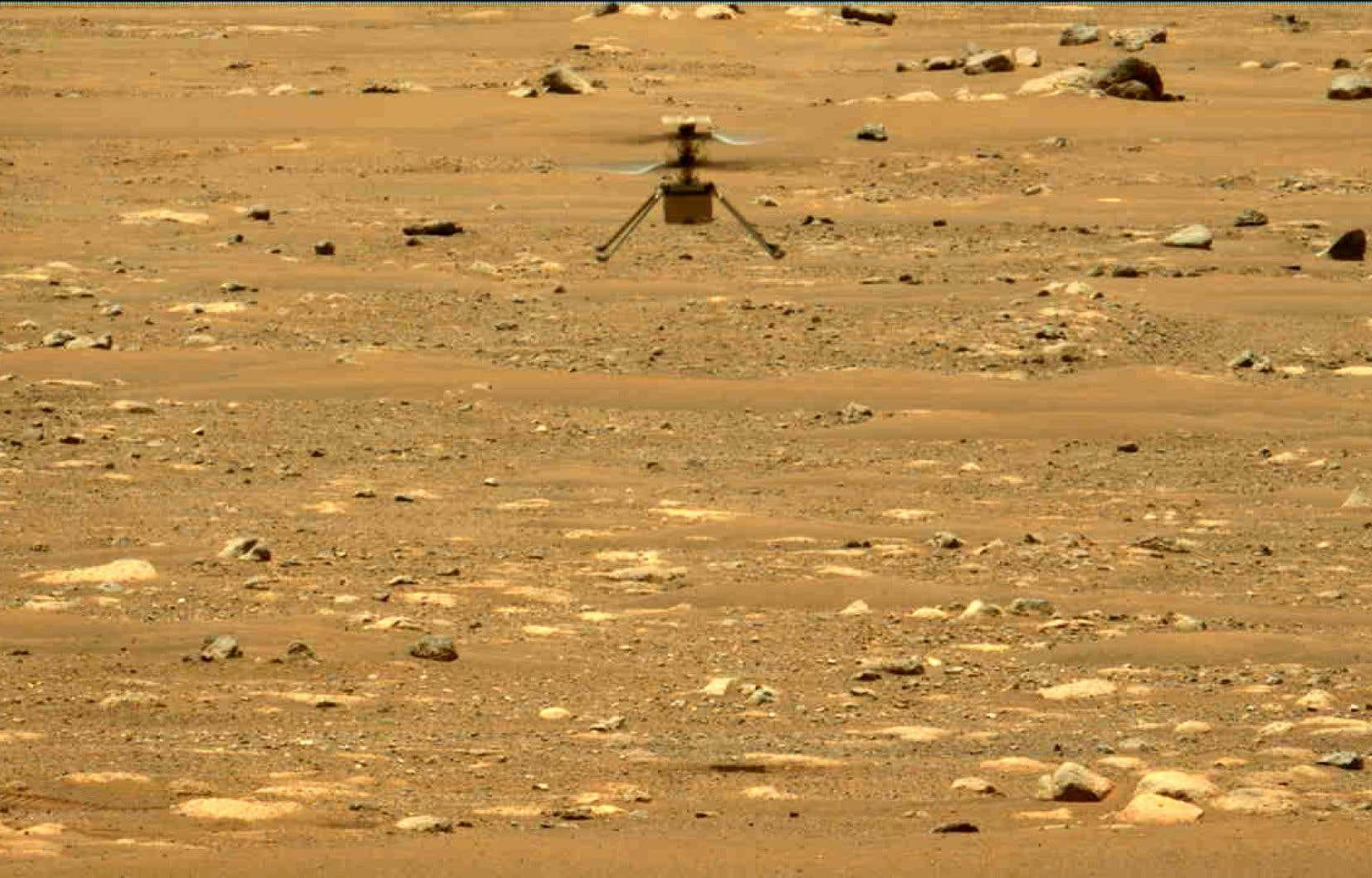 Il y a trois jours, «Ingenuity» était devenu le premier objet à réussir un vol au-dessus de la surface de la planète rouge.