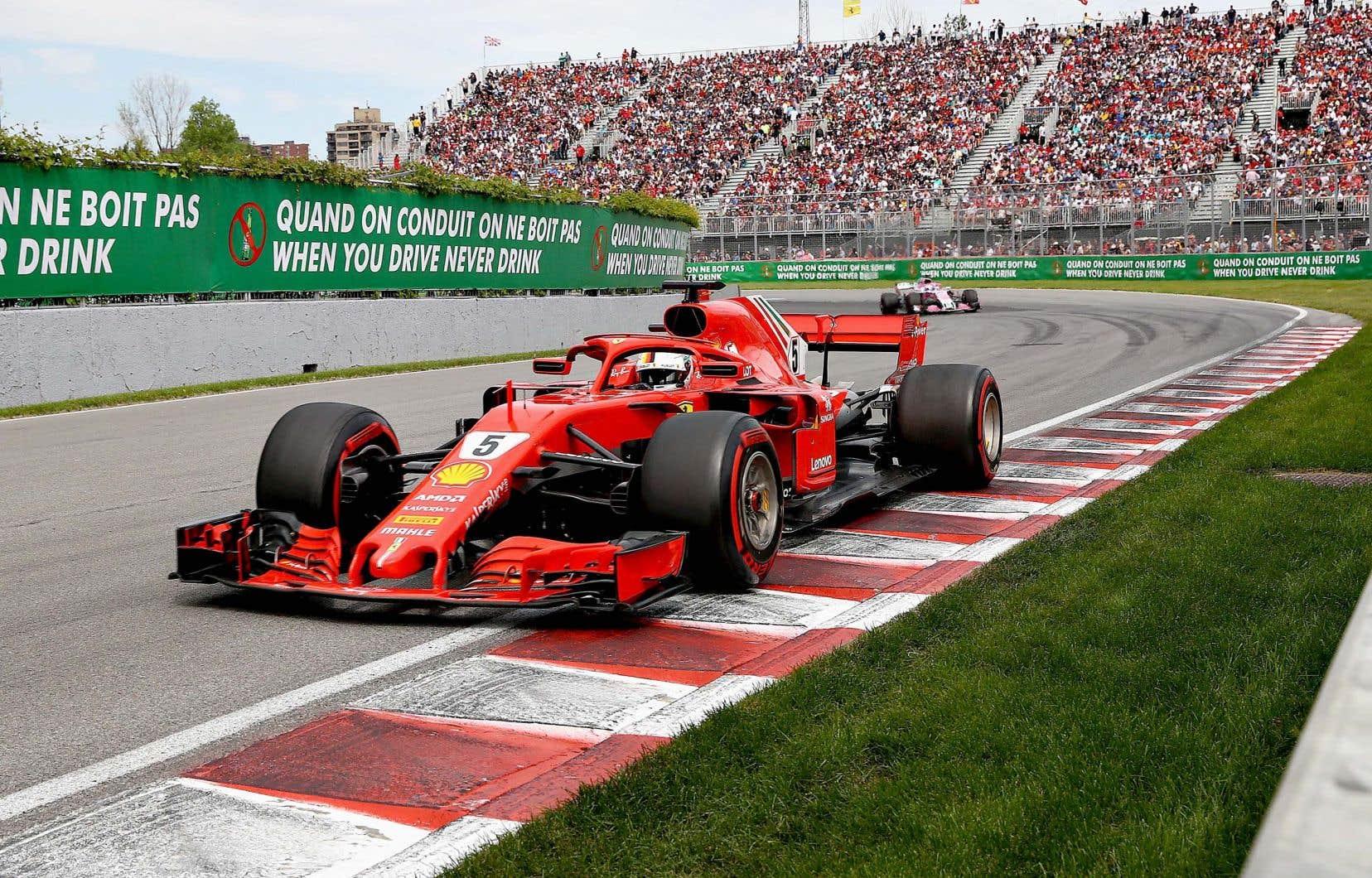 L'Allemand Sebastian Vettel a remporté le Grand Prix du Canada en 2018, au volant d'une Ferrari.