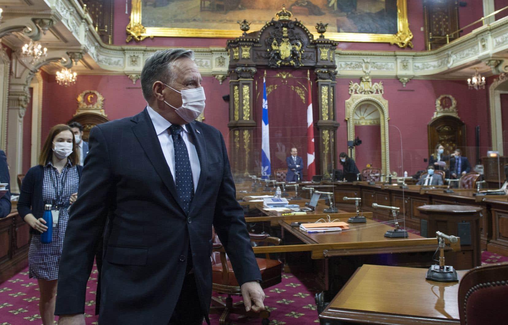 François Legault s'est présenté à l'Assemblée nationale «un peu pompé» — selon ses propres mots — jeudi matin.