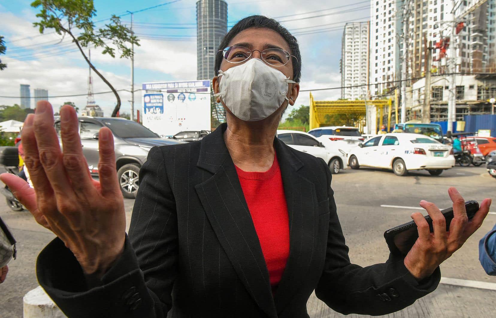 La journaliste américano-philippine Maria Ressa, la lauréate 2021 du Prix mondial de la liberté de la presse UNESCO-Guillermo Cano