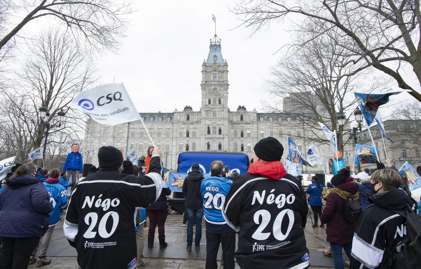 La FEC-CSQ avait déjà tenu une grève le 30mars dernier.