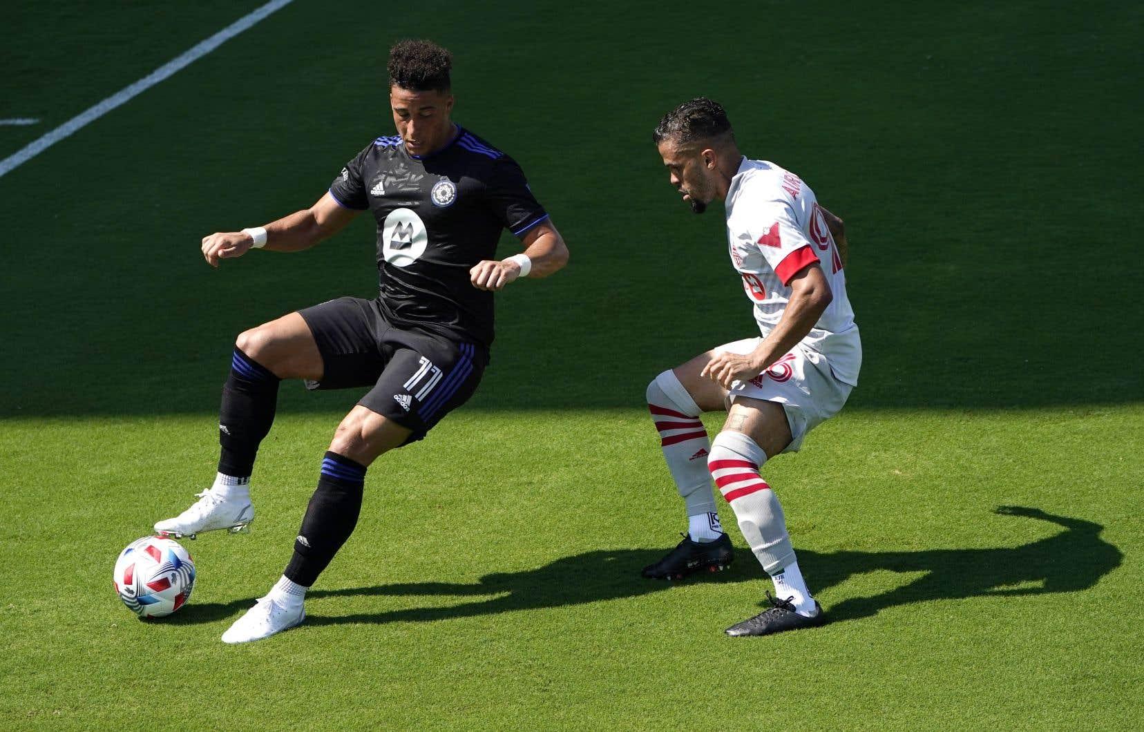 L'attaquant Erik Hurtado lors de la rencontre avec le Toronto FC, en avril dernier.