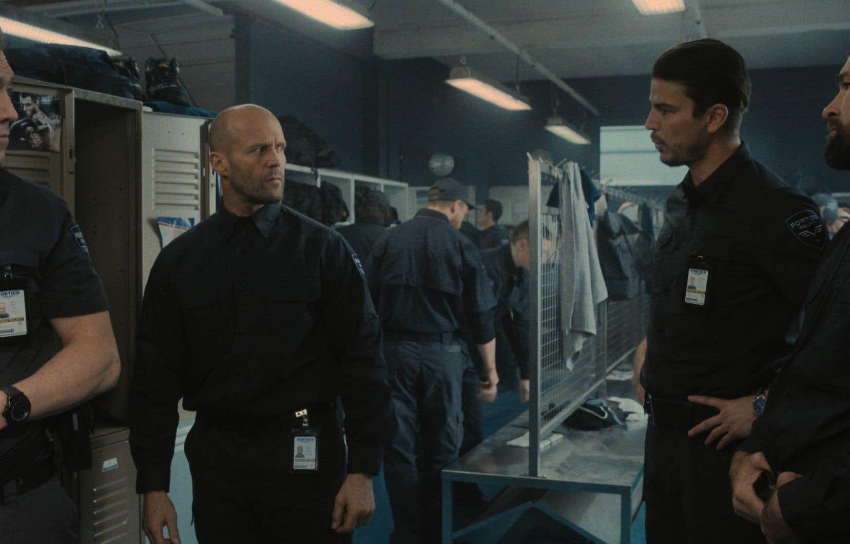 Holt McCallany (Bullet), Jason Statham (H), Josh Hartnett (Boy Sweat Dave) et Rocci Williams (Hollow Bob) dans le thriller de Guy Ritchie «Wrath of Man»