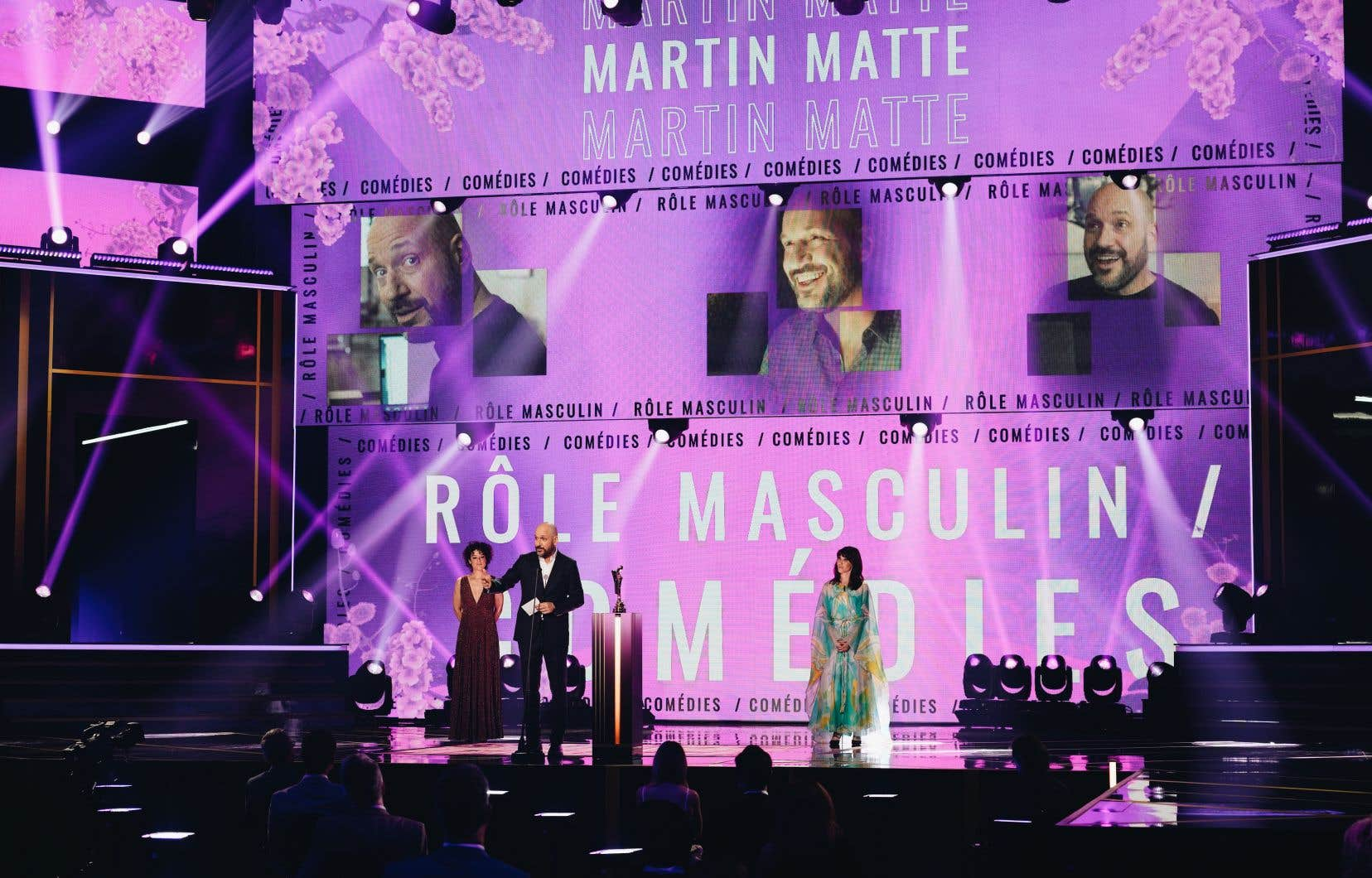 L'humoriste et acteur Martin Matte a été couronné personnalité masculine de l'année, dimanche, lors du Gala Artis.