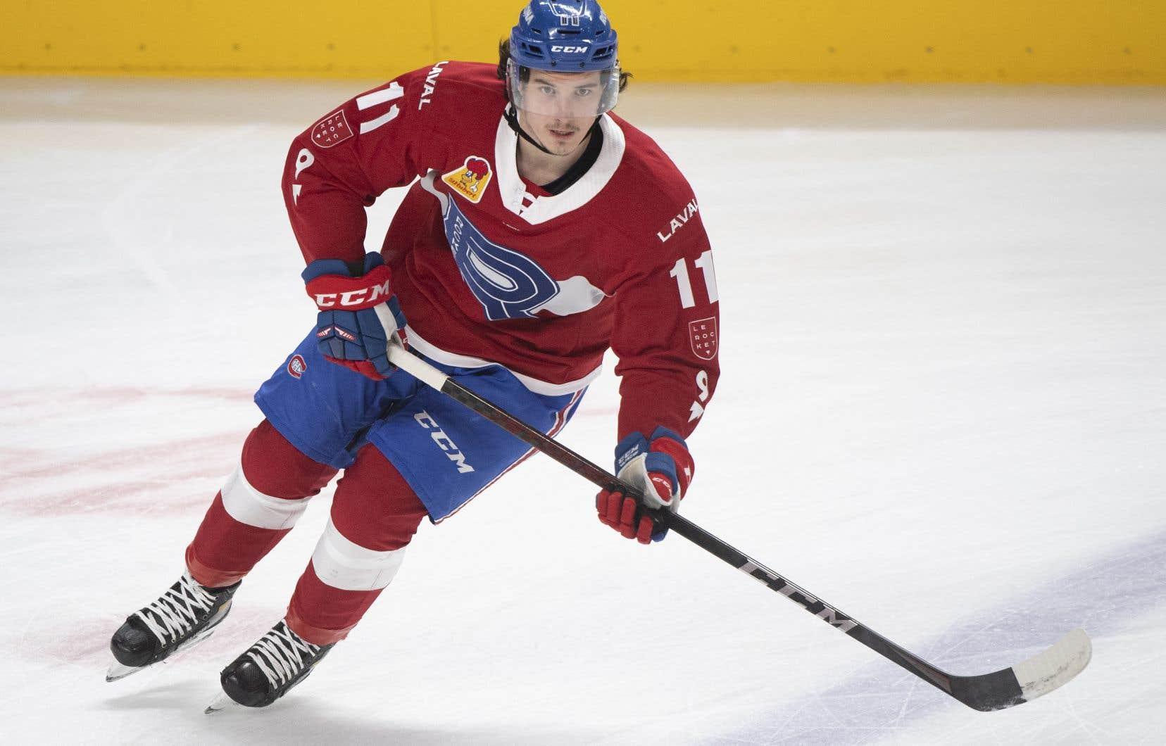 L'attaquant  Rafaël Harvey-Pinard a inscrit 19 points (8-11) en 32 matchs  à sa première  saison professionnelle avec le Rocket de Laval.