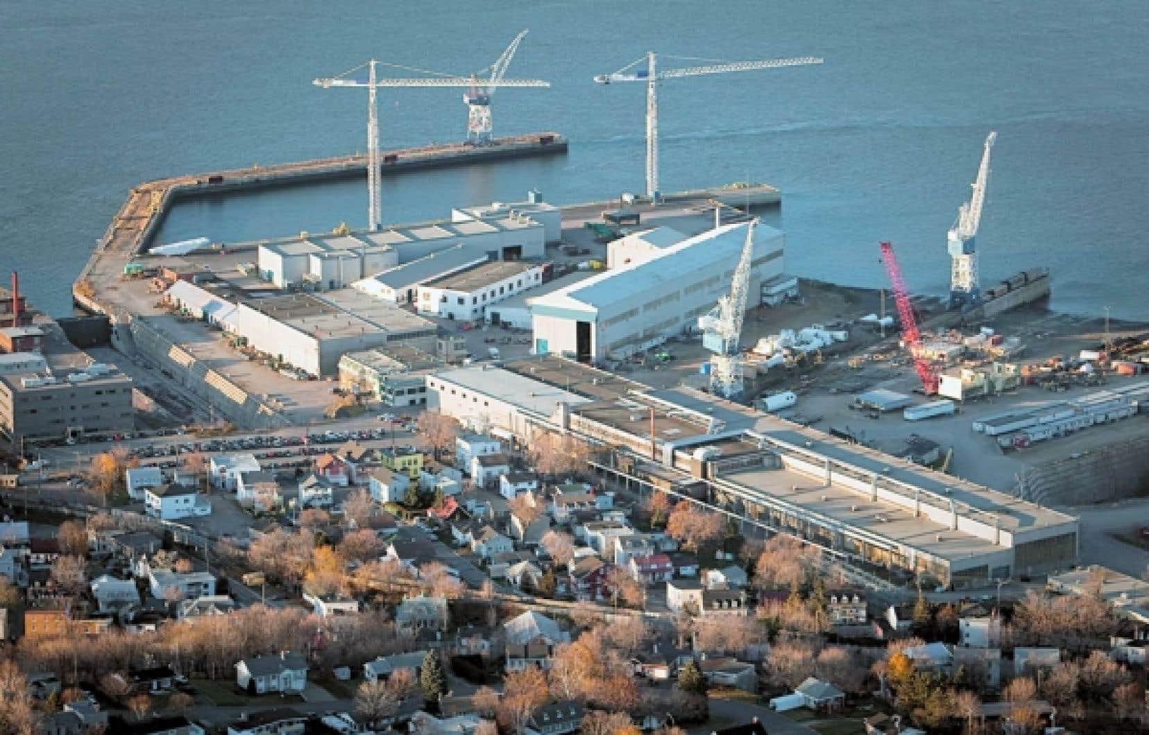 Chantiers Davie disputera les contrats fédéraux à trois autres chantiers navals.<br />