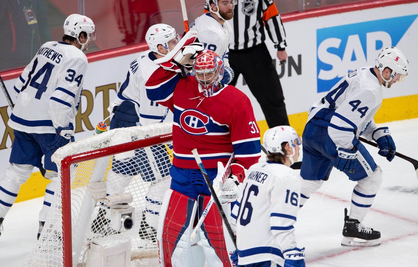 Le gardien Carey Price a réalisé 27 arrêts, ce qui n'a toutefois pas empêché les Maple Leafs de prendre les commandes de la série.