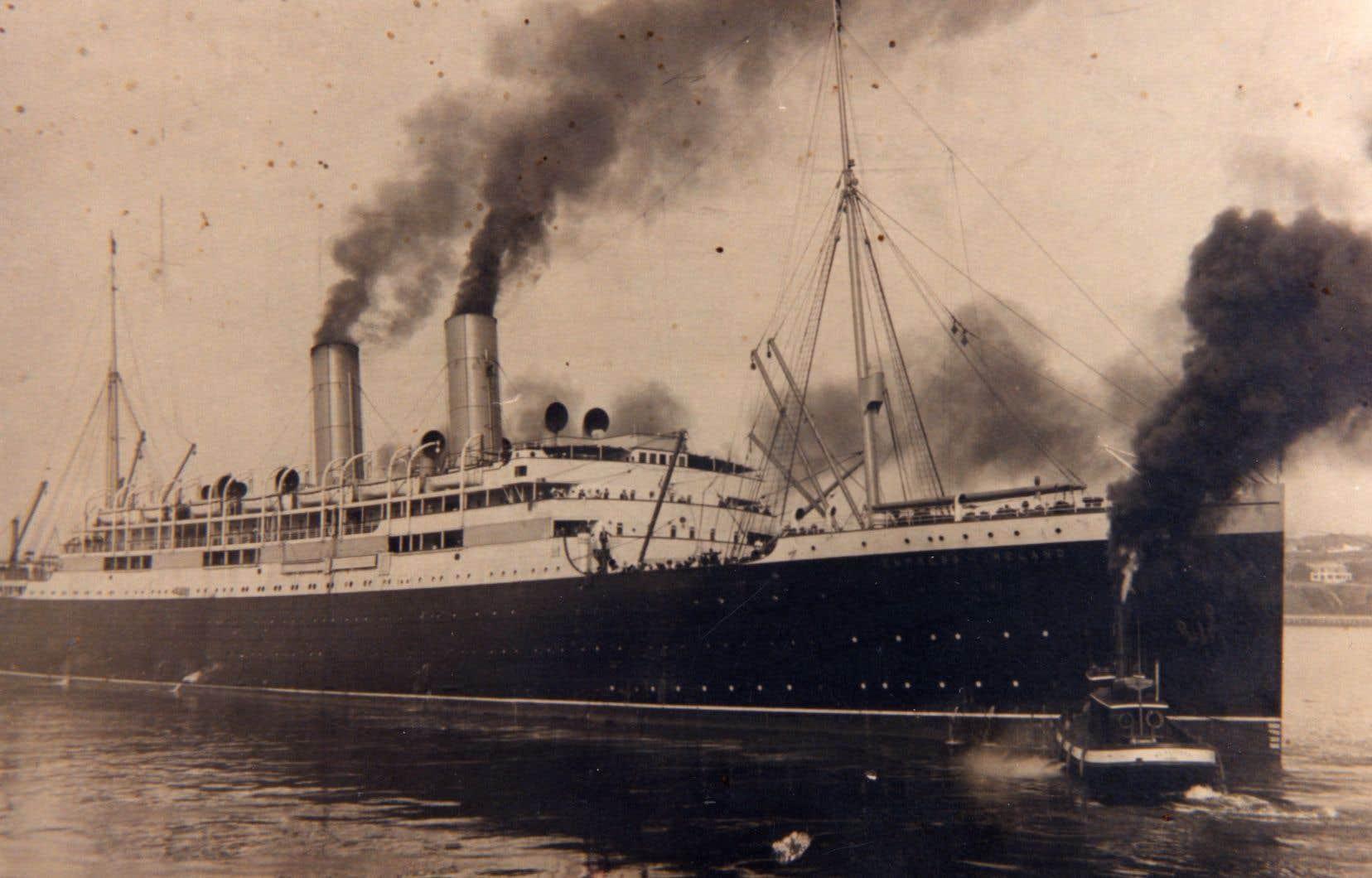 La catastrophe maritime est la plus importante de l'histoire du Canada. Elle a fait plus de mille morts parmi les quelque 1500 passagers du paquebot parti de Québec pour rejoindre Liverpool.