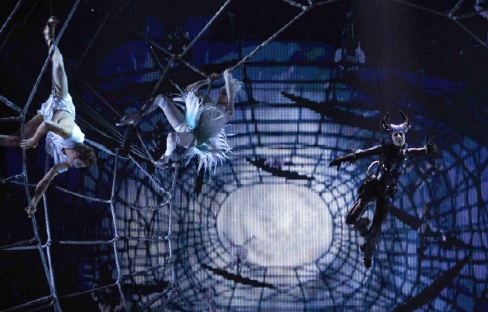 Le Cirque du Soleil a dévoilé hier quelques tableaux de Zarkana