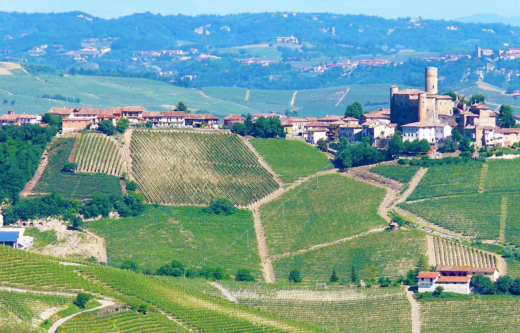 La région du Piémont, en Italie
