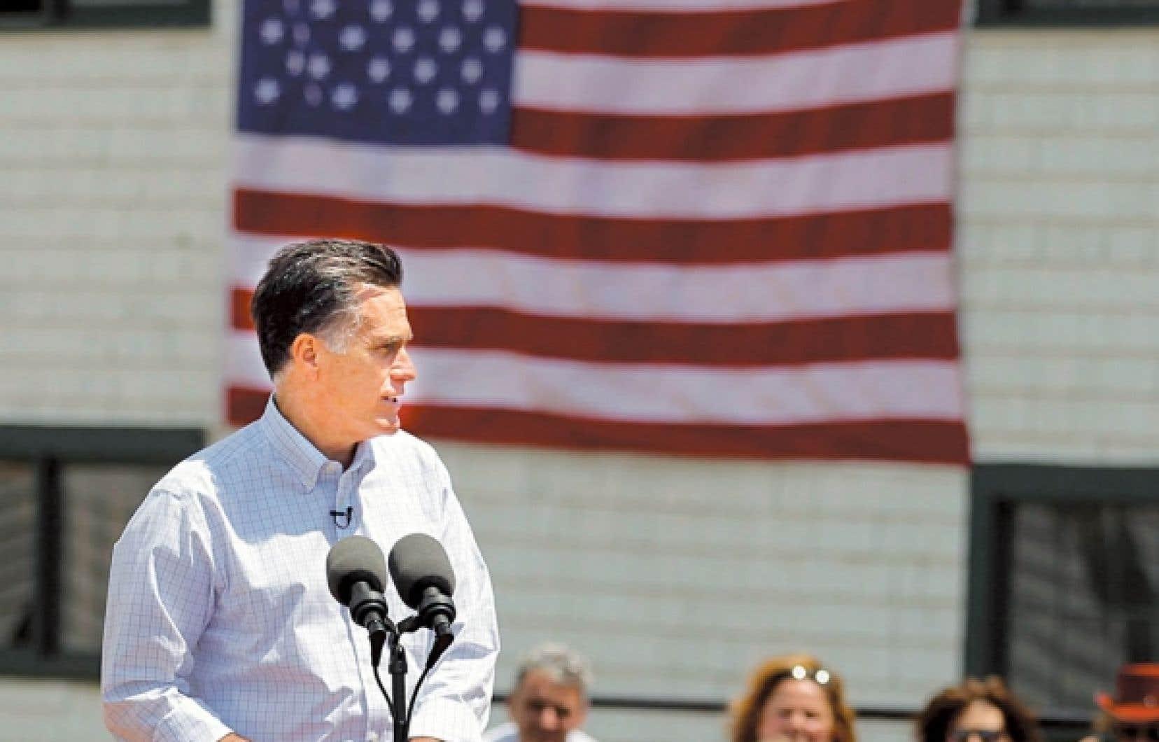 Mitt Romney a pris la parole dans une ferme du New Hampshire.