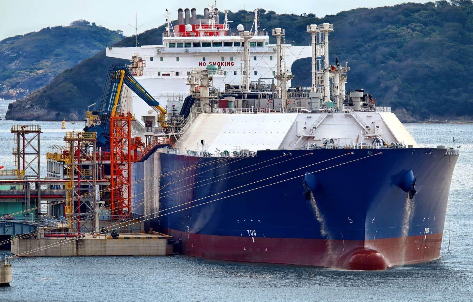 Les promoteurs de GNL Québec cherchent à trouver des acheteurs pour les 11millions de tonnes de gaz naturel liquéfié qui seraient produites chaque année au Saguenay.