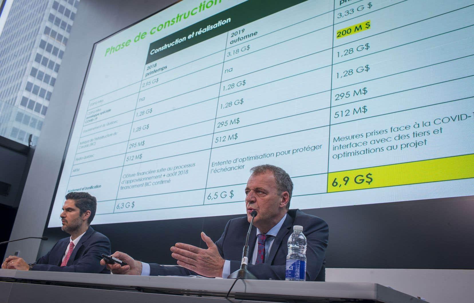 Cette augmentation des coûts de 350millions de dollars sera assumé en totalité par CDPQ Infra, a assuré sonprésident et chef de la direction, Jean-Marc Arbaud.