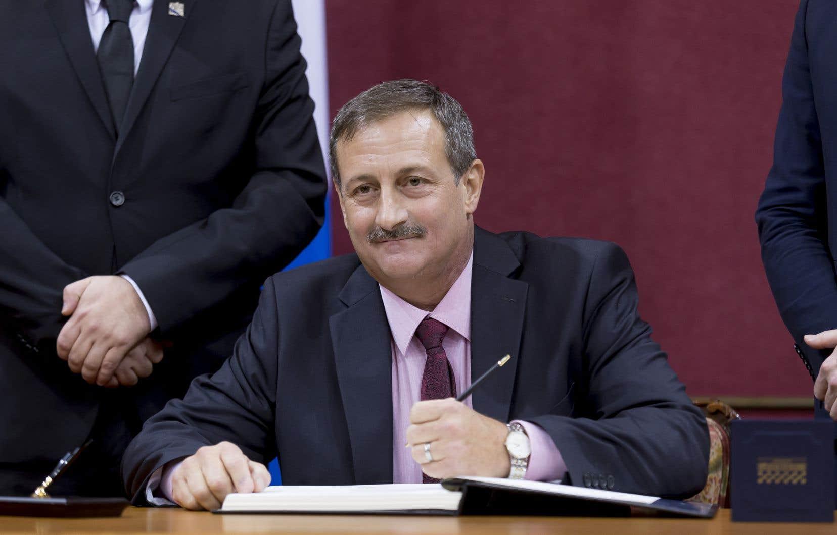 Le député de Bonaventure, Sylvain Roy