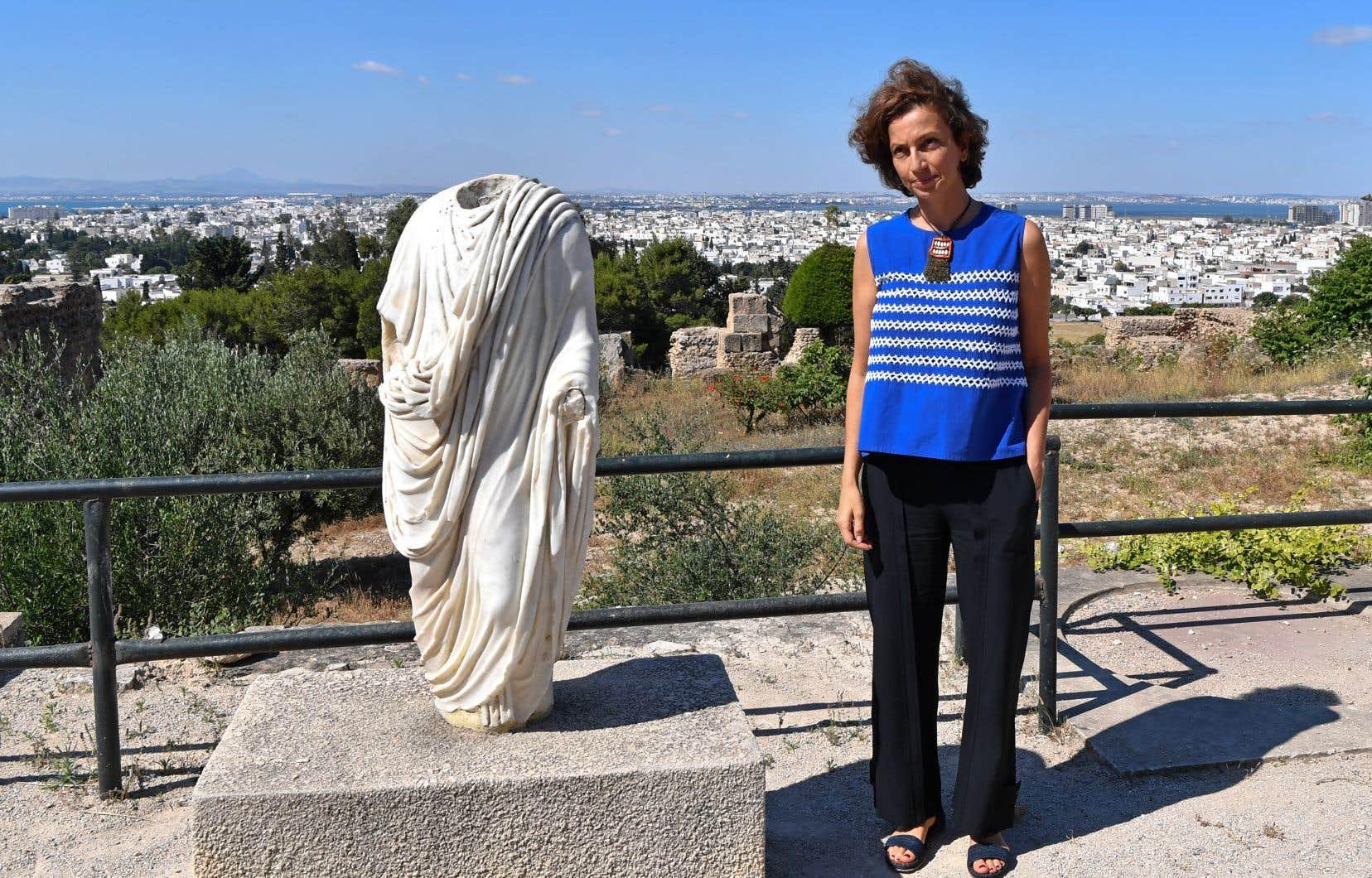 La directrice générale de l'UNESCO, Audrey Azoulay