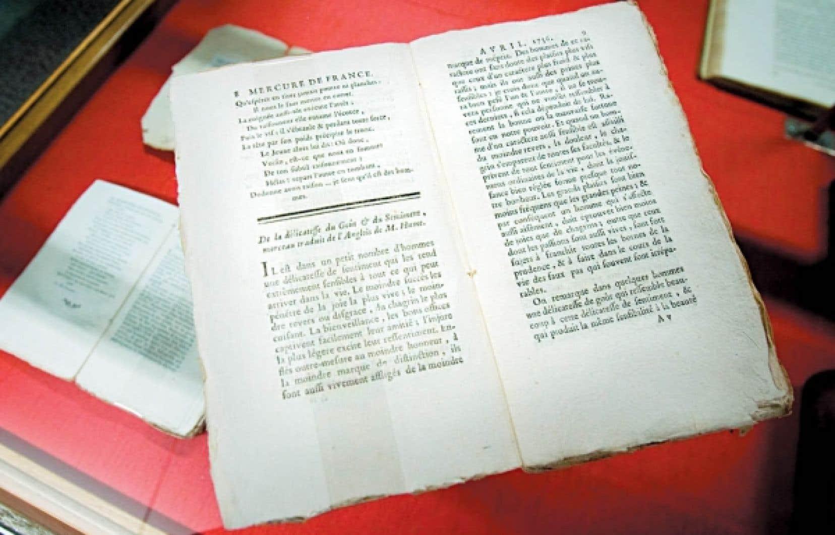 On trouve dans le Mercure de France 14 textes de David Hume, entre 1756 et 1760, comptant près de 200 pages.<br />