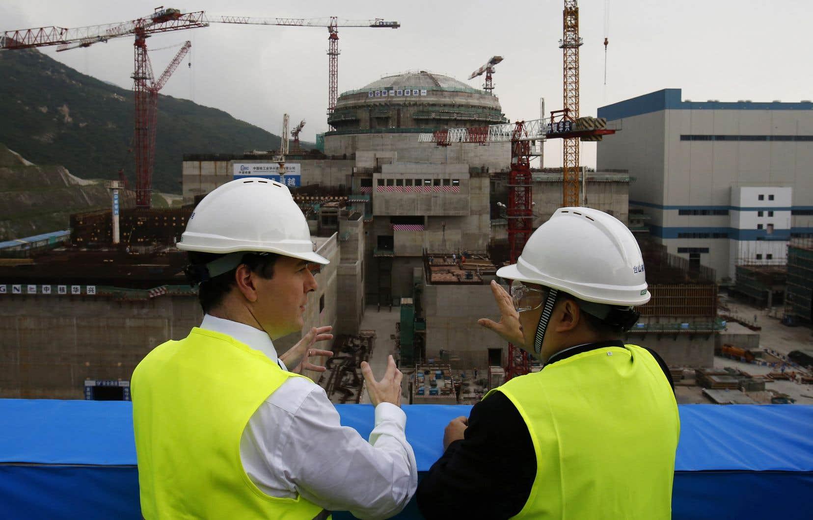 Les deux réacteurs de Taishan, non loin de Macao et de Hong Kong, ici lors de leur construction en 2013,sont à ce jour les seuls EPR à être entrés en service dans le monde, en 2018 et 2019.
