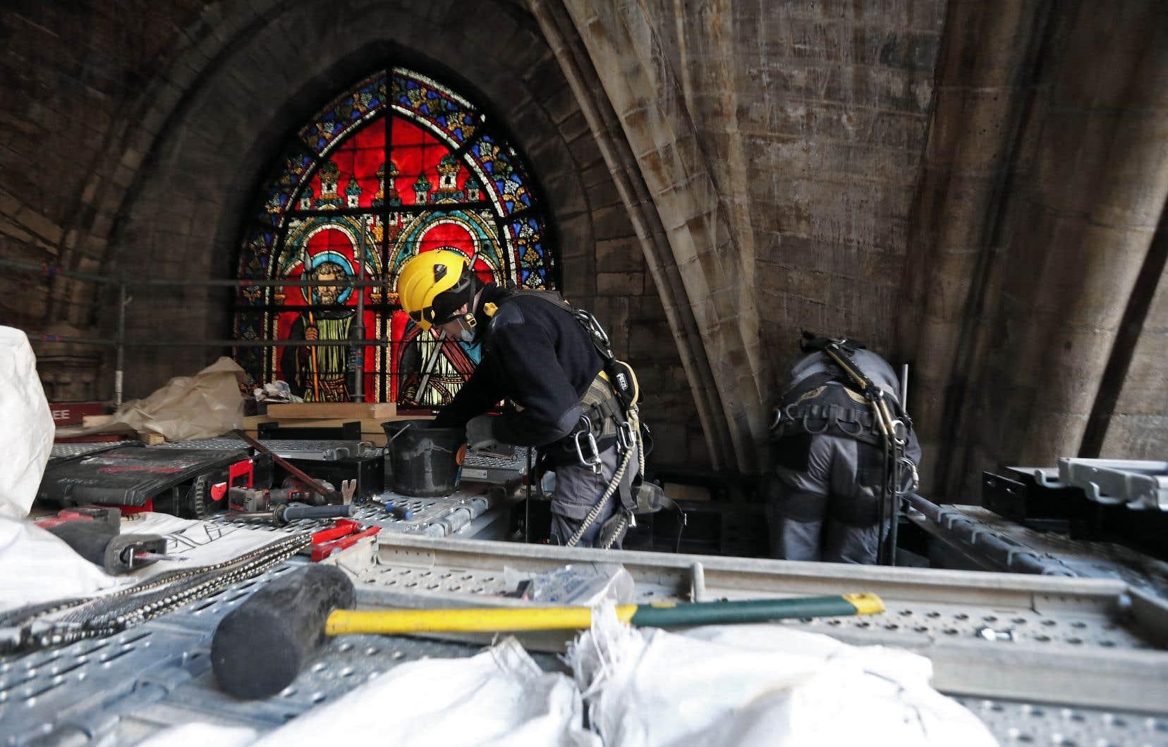 Au total, plus de 800millions d'euros de dons ont été récoltés pour les travaux sur le monument gravement endommagé par l'incendie du 15avril 2019.