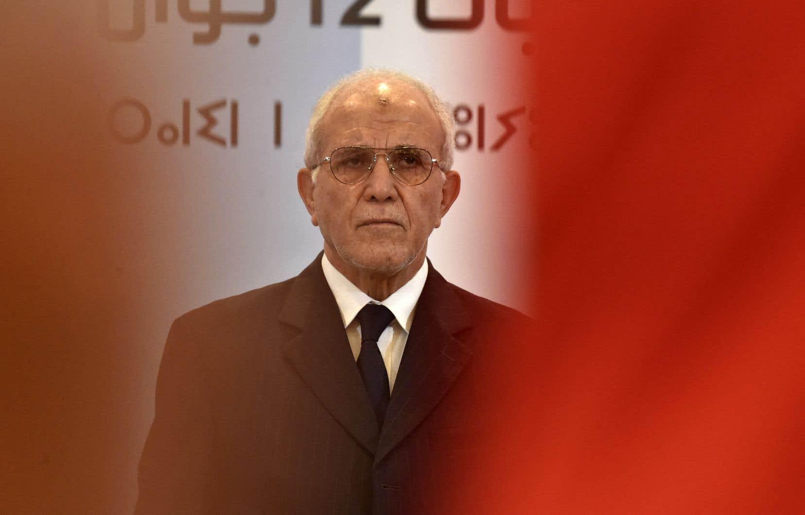 Le président de l'Autorité électorale nationale indépendante d'Algérie, Mohamed Chorfi, à annojcé les résultats des élections législatives lors d'une conférence de presse.