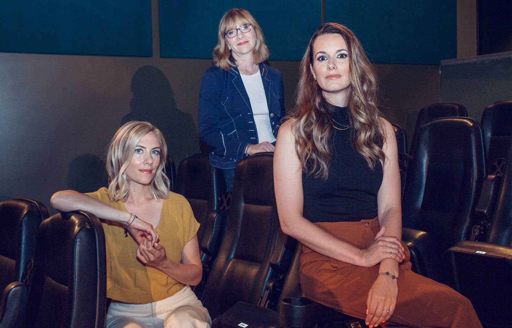 Les réalisatrices Émilie Perreault (à gauche) et Monic Néron, en compagnie de la productrice Denise Robert (derrière)