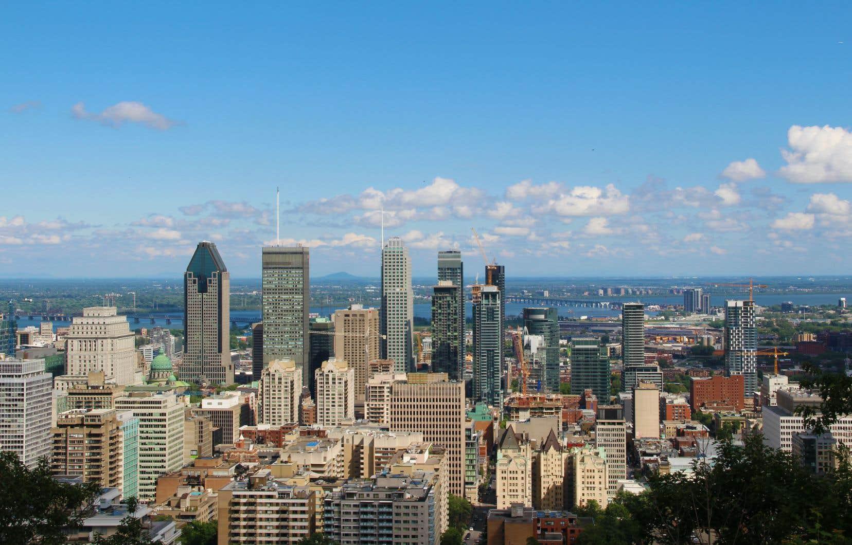 Le centre-ville de Montréal vu depuis le Mont Royal