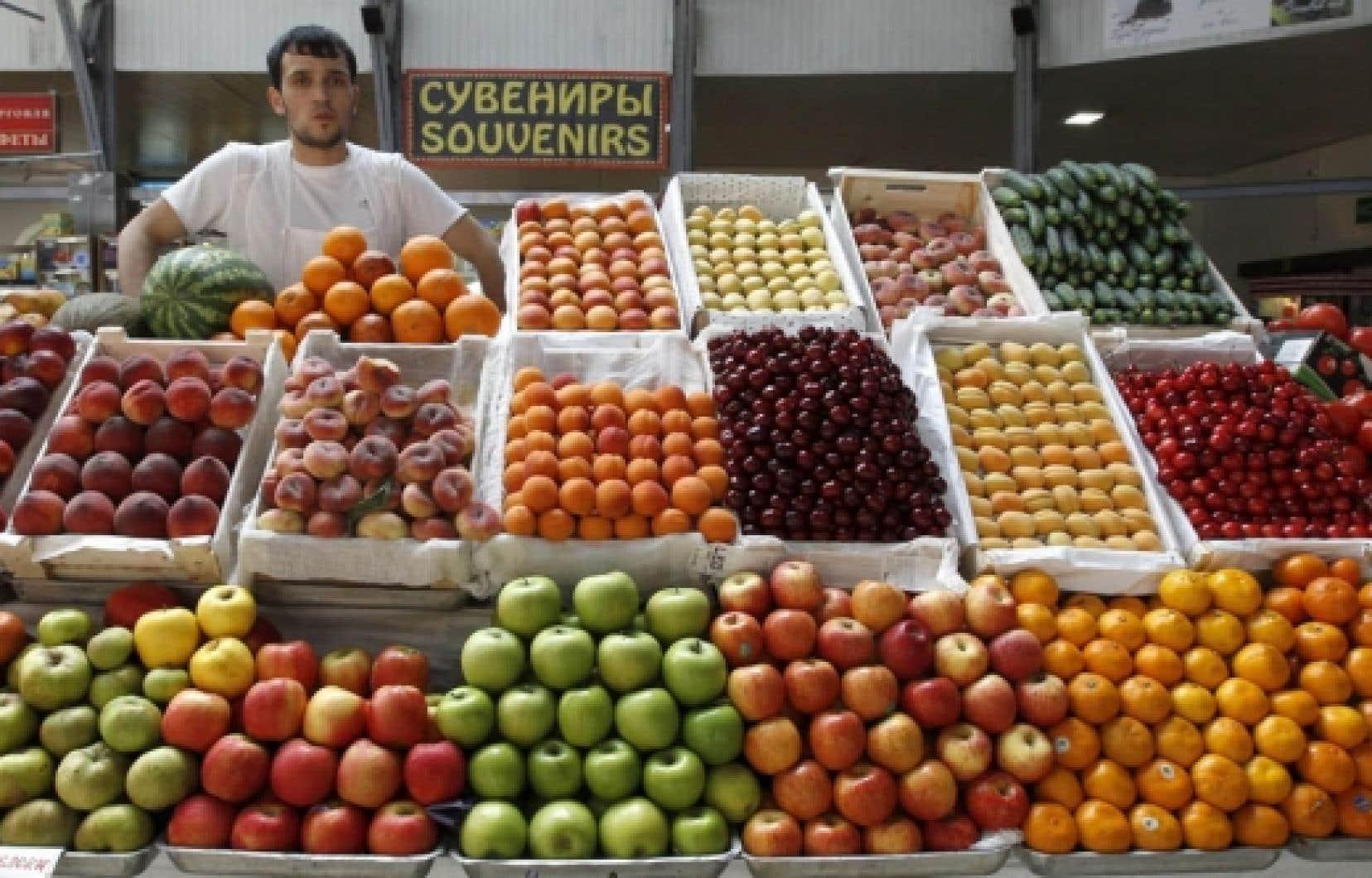 La Russie a récemment temporairement banni les importations de légumes de l'Union européenne.<br />